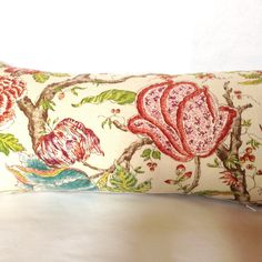 Spring floral botanic linen bolster by MissusTroutAtHome on Etsy Bolster Covers, Pillow Covers, Chinese Butterfly, Retro Fabric, Throw Cushions, The Fresh, Pillow Inserts, My Etsy Shop, Weaving