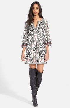 Alice+++Olivia+'Lowell'+Embroidered+Tunic+Dress+available+at+#Nordstrom