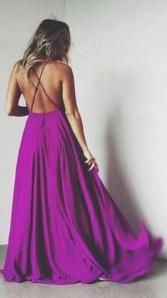 open back purple maxi dress
