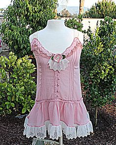 Upcycled Women's Clothing / Romantic Mauve by AmadiSloanDesigns, $45.00