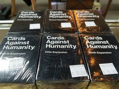 We just ordered a brand new expansion pack for cards against humanity, we will post as soon as they arrive!  Also, if I understand correctly, the six individual expansion packs that we have now are being phased out for new packaging. This packaging will combine 1 thru 3 and 4 thru 6 in two boxes of 300 cards. So, if you need any single boxes of one through six now is the time to pick them up. We will post info as we get it.