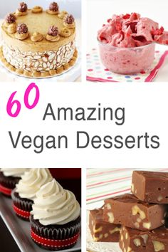 60 AMAZING Vegan Desserts - new ones added regularly!!     |     Save and organize favourites on your iPhone or iPad with @RecipeTin – without typing them in! Find out more here: www.recipetinapp.com      #recipes #vegan