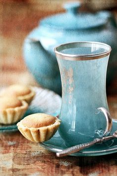 belles tasses bleues