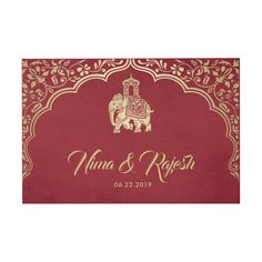 Shop Indian Wedding Guest Book with Ganesha, Red, Gold created by BeachDivasDesign. Personalize it with photos & text or purchase as is! Letterpress Wedding Invitations, Destination Wedding Invitations, Vintage Wedding Invitations, Printable Wedding Invitations, Wedding Invitation Design, Wedding Stationery, Invitation Cards, Invitation Wording, Invitation Suite