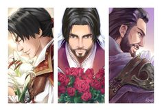 Ezio and Flowers by Hinoe-0.deviantart.com on @DeviantArt