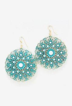 Kimmie Earrings in Teal Patina