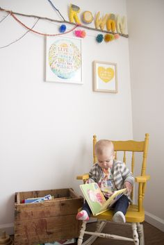 Re-paint rocking chair: In The Morning Light (via @Jen Lula-Richardson)