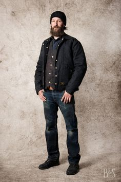 Wrenchmonkees MC Jacket, Tellason Ankara Jeans, Red Wing 8114 Iron Ranger and Stetson Northport Beanie at www.burgundschild.com