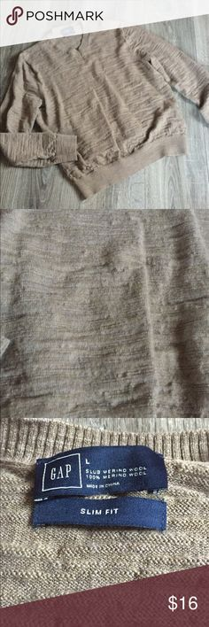 Banana Republic Slim Fit Wool V-Neck Sweater Fits more like a small/medium. Slim Fit 100% Wool. Exc condition. Banana Republic Sweaters V-Neck