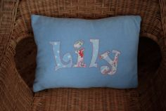 Appliqued Lily Pillow Cushion with Cath Kidston by SnuginaDub, £15.00