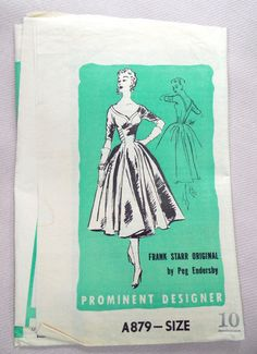 Hey, I found this really awesome Etsy listing at https://www.etsy.com/listing/194595202/vintage-1950s-pattern-dress-prominent