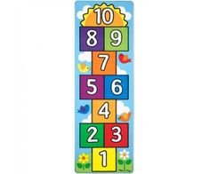Melissa & Doug Hop & Count Hopscotch Rug (Play Space & Room Decor Sturdy Woven Floor Rug Durable Materials Skid-Proof Backing Great Gift for Girls and Boys - Best for 3 4 5 6 and 7 Year Olds) Hopscotch Rug, Kite Shop, Kids Area Rugs, Puzzle Shop, Melissa & Doug, Gifts For Girls, Clipart, Floor Rugs, Red And Blue