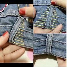 Sewing Alterations, Diy Clothes Alterations, Diy Clothes Jeans, Thrift Store Diy… – – Olga h – Thrift Store Crafts Thrift Store Outfits, Thrift Store Fashion, Thrift Store Crafts, Thrift Stores, Thrift Clothes, Diy Clothes Alterations, Sewing Alterations, Diy Clothes Jeans, Sewing Clothes