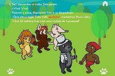 Saci Pererê e suas travessuras no livro interativo Tobi