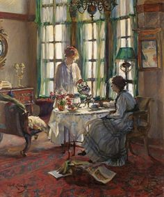 Laing, Annie Rose (b,1869)- Women Having Tea (Helensburgh Breakfast)