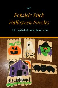 DIY Halloween Puzzles! Littlewhitehomestead.com