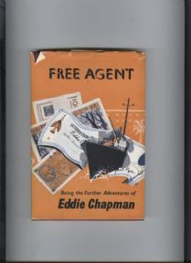 Vintage Hard Back Book with DJ Free Agent Further Adventures of Eddie Chapman 1950s MI5 Zig Zag #FollowVintage £20