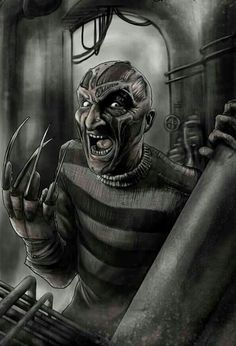 "Horror Movie Art : ""Freddy Krueger"" by ChrisEnterline @ deviantart Horror Show, Horror Art, Horror Drawing, Real Horror, Horror Movie Characters, Horror Movies, Horror Icons, Famous Monsters, Iconic Movies"