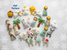 PDF pattern Nativity set ornaments  Nativity set scene  Christmas ormaments Felt christmas ornament   Mary Joseph  Jesus  Wise men  ornament by MagicPatternShop on Etsy https://www.etsy.com/listing/273046980/pdf-pattern-nativity-set-ornaments
