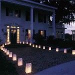 Lanternes papier blanc (par 12)