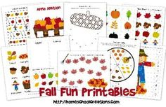 Free Educational Printable Pages for Kids