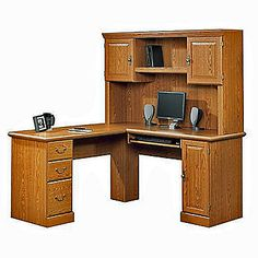 Orchard Hills Computer Desk With Hutch - Sauder Office Furniture