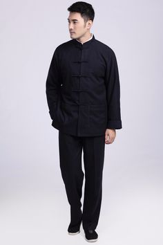 Chinese traditional men clothing traditional chinese kung fu suit For Men 2 Color