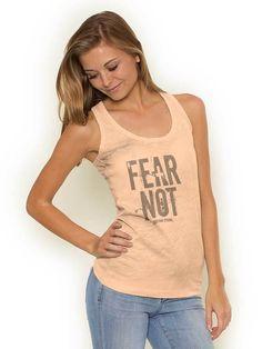 Fear Not Racerback Tank | Christian Strong