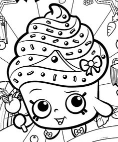 Shopkins Coloring Pages Season 1 Kooky Cookie Shopkins