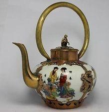 Chinese tibet Porcelain Dragon Tea Pot