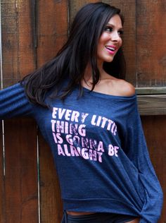 every little thing is gonna be alright. Eco-Heather Crop Raglan. Sizes S-XL. by FiredaughterClothing on Etsy https://www.etsy.com/listing/157014286/every-little-thing-is-gonna-be-alright