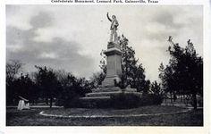 Gainesville TX Confederate Monument Lenard Park | eBay