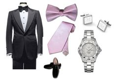 Groom's tuxedo and accessories.