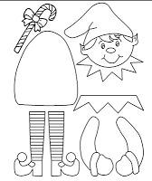 Printable Elf Craft (color, cut, glue) - Christmas Activities For Kids - Christmas Activities, Christmas Printables, Christmas Projects, Holiday Crafts, Holiday Fun, Santa Crafts, Christmas Crafts For Kids To Make, Christmas Templates, Summer Crafts