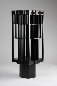 Revolving bookcase, designed by Charles Rennie MacKintosh, Scotland. Designed for House Hill in Glasgow. 1904. — Modernity