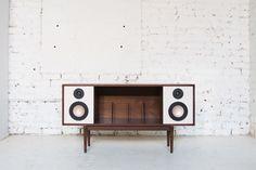 Cool inbuilt speaker storage...  Modern-HiFi-Stereo-Console-Department-Chicago-3