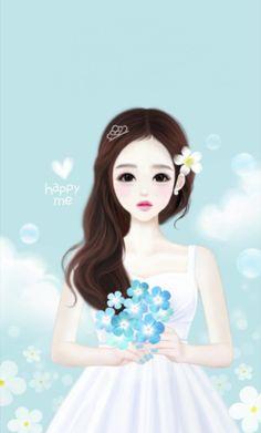 Image about girl in 🎀Enakei🎀 by (-_ლ) on We Heart It Korean Anime, Korean Art, Cute Korean, Korean Illustration, Illustration Girl, Girl Cartoon, Cute Cartoon, Lovely Girl Image, Girly M