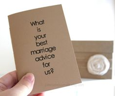 Wedding Advice Guest Book  8 Kraft by JottersandJournals on Etsy, $52.00