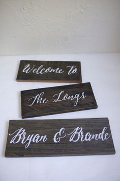 Hand Painted Personalized Home Sign To Be Mounted On Wood Stake. Custom  Home And Event Signs. Reclaimed Wood.