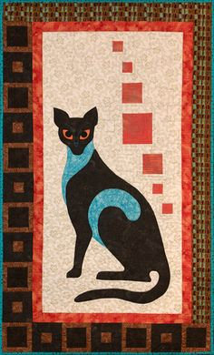 Posh Cat quilt pattern by Helene Knott