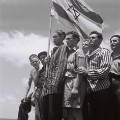 Buchenwald survivors in Haifa Israel. July 15 1945. [2508x2508]