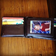 """Maccabee Montandon (@maccabeem on Twitter) has a laser-ific experience hidden inside his wallet. Speaking of wallets, check out this """"wallet of the future"""" on Co.Design: http://www.fastcodesign.com/1669980/the-wallet-of-the-future-is-the-wallet-of-the-past#1"""