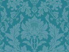 Флизелиновые обои для декорирования гостиной комнаты с роскошными цветочными дамасками цвета океанского дна на глубине 2-3 метра