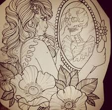 Love the sketch I think this would make a lovely half sleeve. Or thigh piece