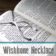 Learn how to make this whimsical wishbone necklace out of oven bake clay! Inspired by Daughter of Smoke and Bone Series by Lani Taylor