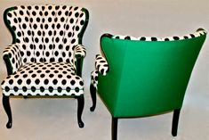 Pair of Shell Chairs in Emerald Green and Black and by Element20, $795.00