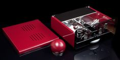 Egg-Shell Prestige 12WKT - vacuum tube integrated stereo amplifier with spherical remote control in custom color. Nice?? :)