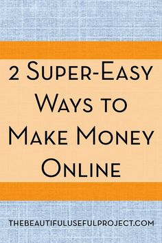 Looking for easy ways to make a little extra money online? These two methods are effortless! ways for students to make extra money, make money #college #studentdebt