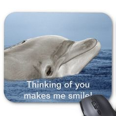 Thinking of you makes me smile mousepad