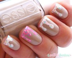 nails -                                                      Winter Christmas Snowflake Sweater Inspired Nails. I Think This Is Adorable!!!
